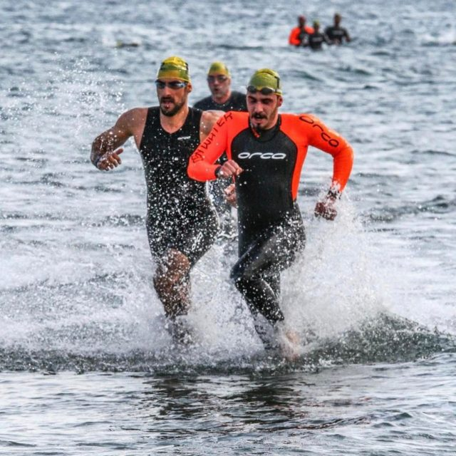 The fastest win LarnakaTriathlon swim exit organized by nireastriathlon hellip