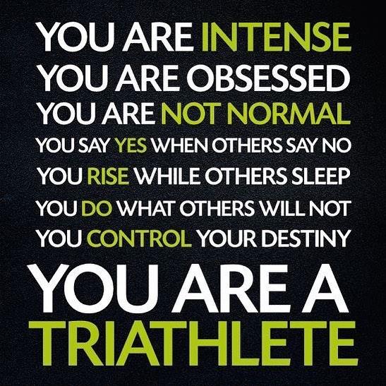You are a triathlete when triathlete triathlon