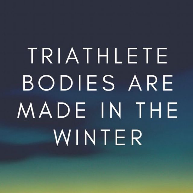 Hello December! Winter doesnt scare us  we are triathletes!hellip